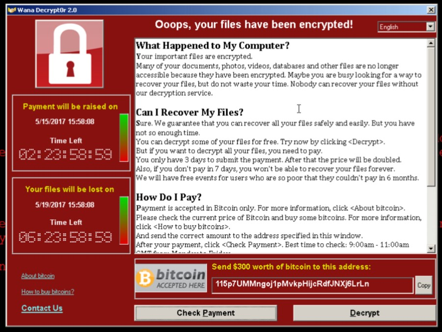 WannaCry Wants to Make You Cry
