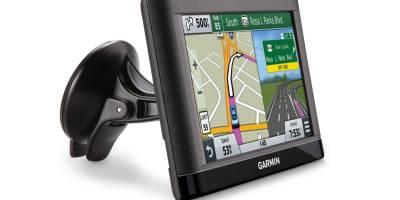 Typical window mounted GPS navigator